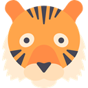 Animal, Tiger, zoo, Animals, Asia, mammal, wild, wildlife SandyBrown icon