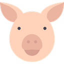 pig, Animals, Farm, mammal, wild, wildlife, Animal PeachPuff icon