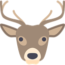 Animal, christmas, winter, Animals, deer, reindeer, mammal Gray icon
