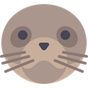 zoo, Animals, mammal, wildlife, seal, Animal Kingdom RosyBrown icon