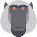 Animal, zoo, Animals, Baboon, mammal, wild, wildlife LightGray icon