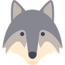 wild, wolf, wildlife, Animal, zoo, Animals, mammal LightSlateGray icon