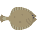 Animal, fish, Animals, Aquarium, wild, wildlife, Aquatic, Flounder RosyBrown icon
