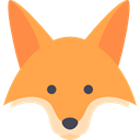 mammal, wild, wildlife, Fox, Animal, zoo, Animals SandyBrown icon