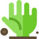 Hand, Terror, spooky, scary, fear, Dead, halloween, horror, zombie YellowGreen icon
