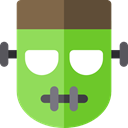 Avatar, halloween, frankenstein, horror, Terror, spooky, scary, fear YellowGreen icon
