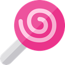 sugar, Dessert, sweet, Lollipop, Food And Restaurant, food PaleVioletRed icon
