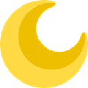 miscellaneous, Moon, weather, nature, meteorology, Astronomy, Half Moon, Moon Phase, Moon Phases SandyBrown icon