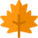 plant, Leaf, nature, halloween, garden, maple leaf, Botanical DarkOrange icon