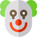 Clown, Circus, carnival, Costume, Fairground, people, Avatar, halloween Gainsboro icon