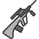 miscellaneous, weapon, war, Gun, Arm, Rifle, pistol, weapons Black icon