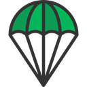 sports, Parachute, Parachutist, Paraglider, Paragliding, Gliding, Sports And Competition DarkSlateGray icon