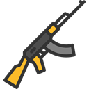 miscellaneous, weapon, pistol, weapons, war, Gun, Arm, Rifle Black icon