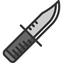 miscellaneous, war, Knife, Military, weapons Black icon