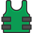 shells, miscellaneous, Bullets, bullet, Shell, weapon, weapons, Bulletproof Vest SeaGreen icon