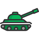 Tank, wars, weapons, Signaling, miscellaneous, weapon, canon, war, Tanks Black icon
