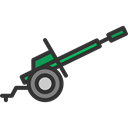 miscellaneous, Car, weapon, war, Circus, Cannon, weapons Black icon