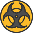 miscellaneous, Biohazard, Toxic, danger, hazard, signs, Signaling DarkSlateGray icon