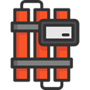 Bomb, explosive, miscellaneous, danger, Explosion, weapons, Bombs, Exploding, Terrorism Icon