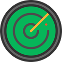 technology, electronics, Positional, radar, place, Area SeaGreen icon