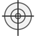 sniper, weapons, Seo And Web, Aim, Target, shooting WhiteSmoke icon