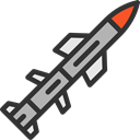 Bomb, miscellaneous, Rocket, weapon, war, Explosion, weapons, Signaling Black icon