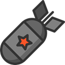 Bomb, miscellaneous, weapon, war, Explosion, weapons, Signaling DarkSlateGray icon