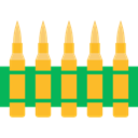 weapons, Munition, Signaling, miscellaneous, Bullets, bullet, Ammo Goldenrod icon