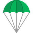 Paragliding, Gliding, Sports And Competition, sports, Parachute, Parachutist, Paraglider Black icon