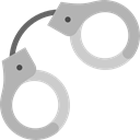 miscellaneous, Handcuffs, Policeman, Arrest, jail, Tools And Utensils, Prision Black icon