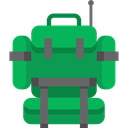 luggage, baggage, Bags, miscellaneous, education, travel, Backpack SeaGreen icon