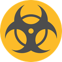 danger, hazard, signs, Signaling, miscellaneous, Biohazard, Toxic Goldenrod icon