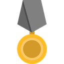 miscellaneous, award, medal, Badge, Emblem, reward, insignia, Sports And Competition Black icon