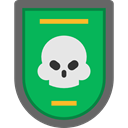miscellaneous, Badge, skull, war, Military SeaGreen icon