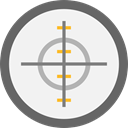 weapons, Aim, miscellaneous, Target, shooting, sniper WhiteSmoke icon