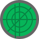 Area, technology, Positional, miscellaneous, radar, place SeaGreen icon