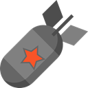 Bomb, miscellaneous, weapon, war, Explosion, weapons, Signaling Black icon