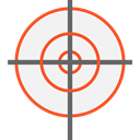 Aim, Target, shooting, sniper, weapons, Seo And Web WhiteSmoke icon