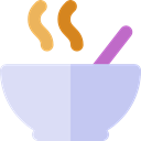 Bowls, Food And Restaurant, food, soup, hot drink, Healthy Food Lavender icon