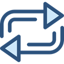 Arrows, Orientation, interface, repeat, Direction, ui, Multimedia Option DarkSlateBlue icon