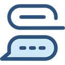 Multimedia, Chat, ui, Communication, speech bubble, Conversation DarkSlateBlue icon