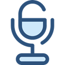 Voice Recording, ui, technology, vintage, sound, Microphone, radio DarkSlateBlue icon