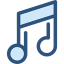 music, interface, music player, song, musical note, Quaver, Music And Multimedia DarkSlateBlue icon