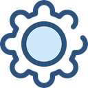 cogwheel, Tools And Utensils, settings, configuration, ui, Gear DarkSlateBlue icon