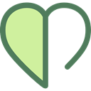 interface, Like, shapes, Peace, lover, loving, Shapes And Symbols, Heart PaleGoldenrod icon