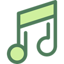 music player, song, musical note, Quaver, music, interface, Music And Multimedia DimGray icon
