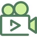 cinema, film, movie, ui, technology, video camera DimGray icon