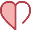 Heart, interface, Like, shapes, Peace, lover, loving, Shapes And Symbols LightPink icon
