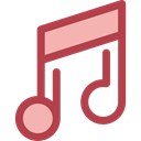 music, interface, music player, song, musical note, Quaver, Music And Multimedia Sienna icon