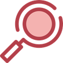 search, magnifying glass, zoom, detective, Loupe, Tools And Utensils, Seo And Web Sienna icon